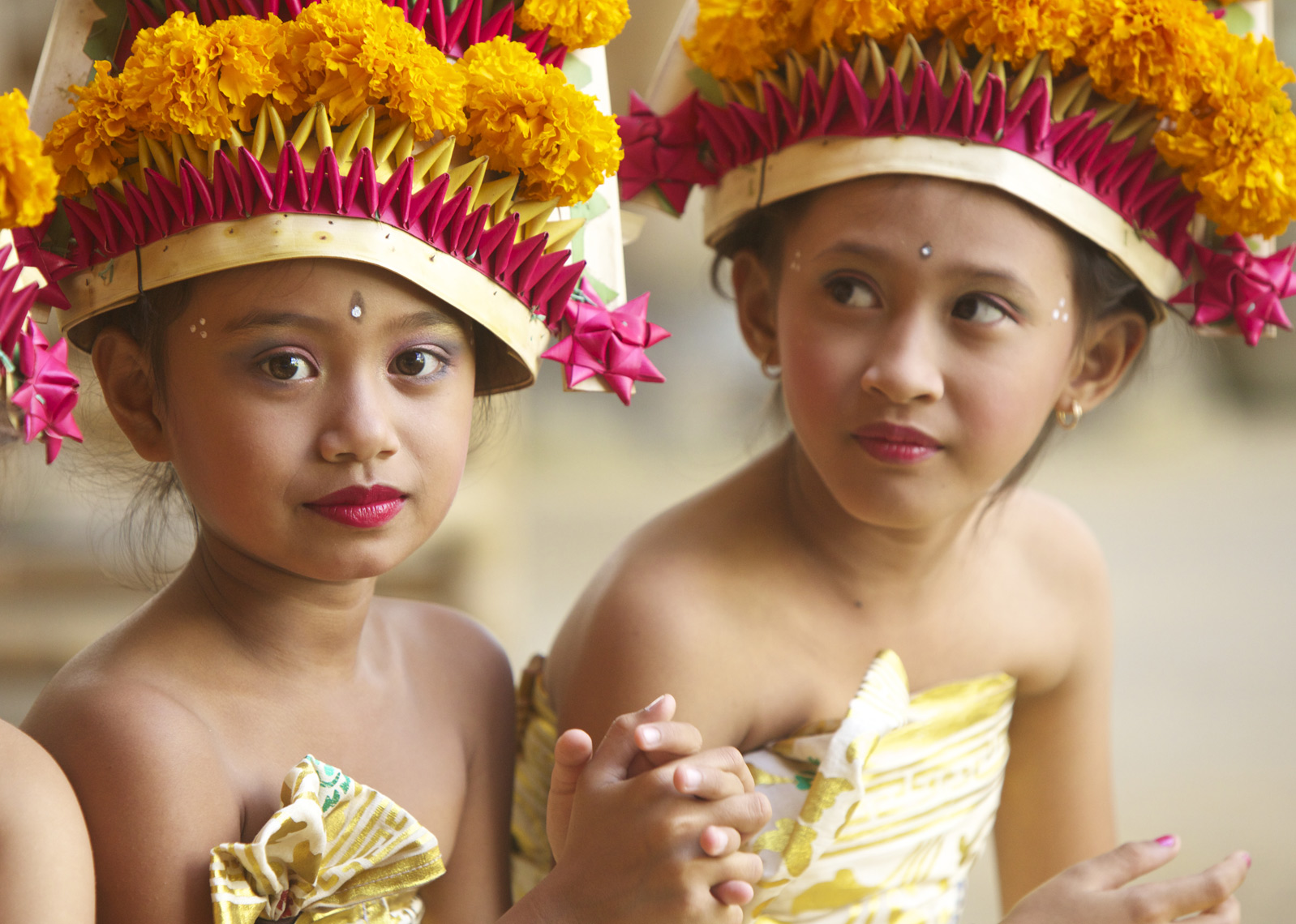 Young girls in cermonial dress,Bali/Steve Mason Photography