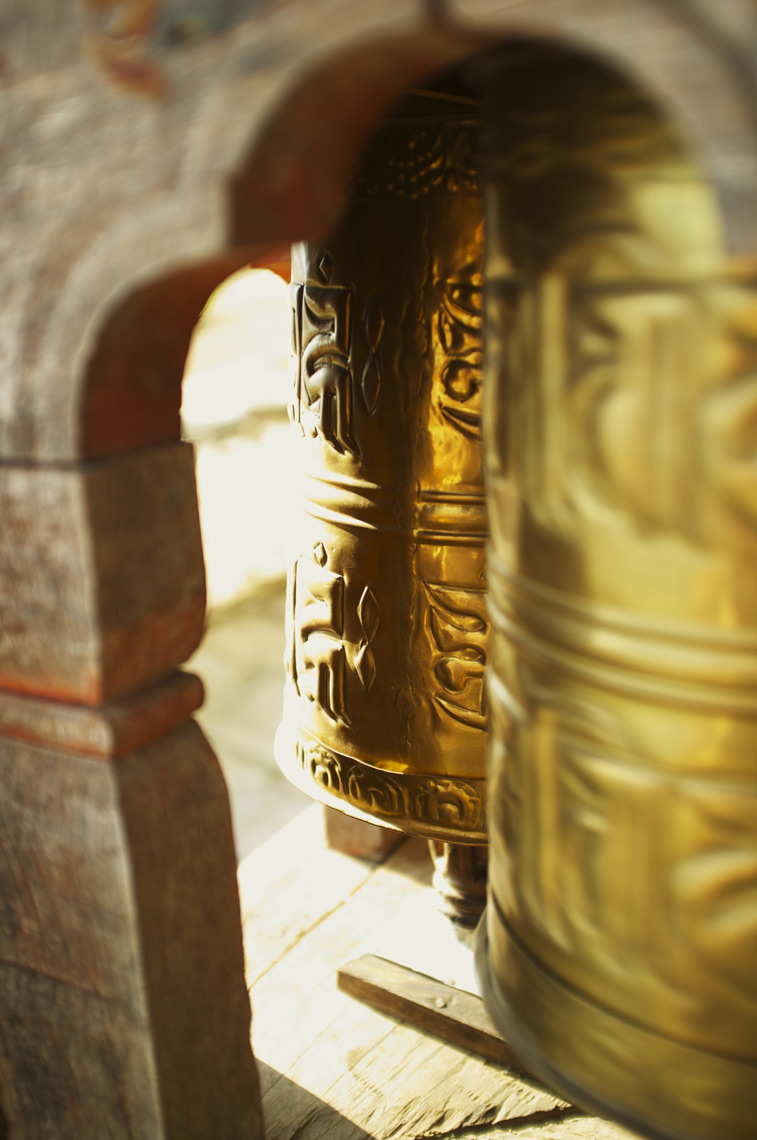 Prayer Wheels in motion Bhutan/ Steve Mason Photography